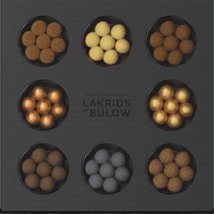 schwarze Box mit bunten Kugeln