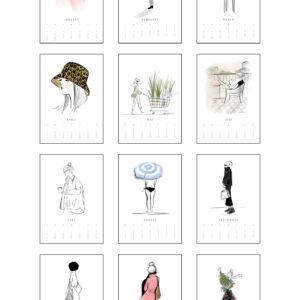 illustrierter Wandkalender 2022