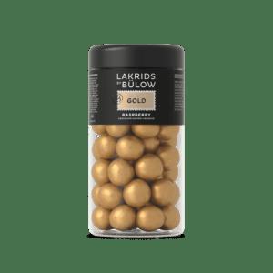 mittlere Dose mit Lakritzkugeln der Marke Lakrids by Bülow, Sorte Gold
