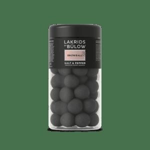 mittlere Dose mit Lakritzkugeln der Marke Lakrids by Bülow, Sorte Snowball