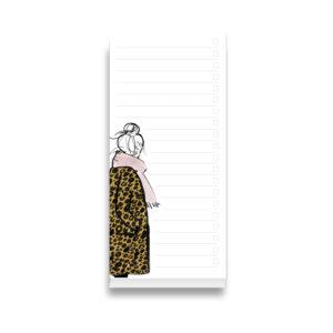 weisser Notizblock mit einer Zeichnung